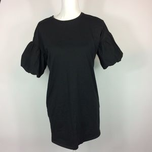 Zara Trafaluc Black Puffy Sleeve Tunic Small